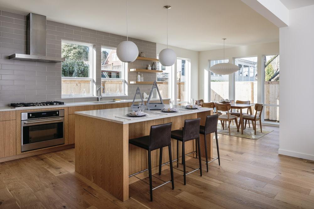 Hardwood in a Waukesha kitchen