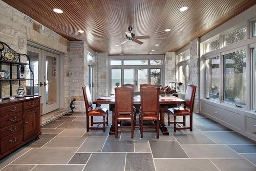 slate tile in modern kitchen