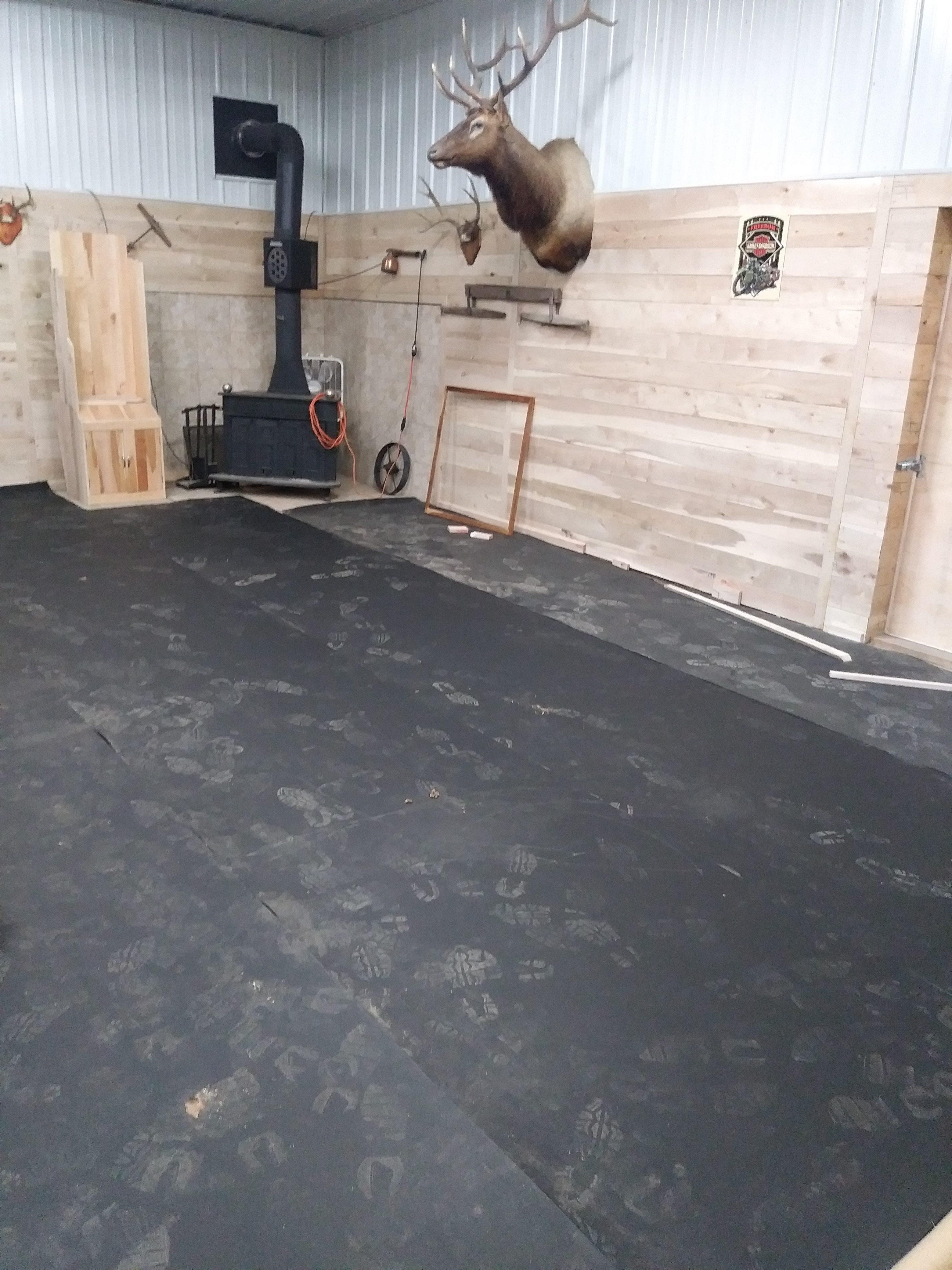 rubber flooring man cave madison
