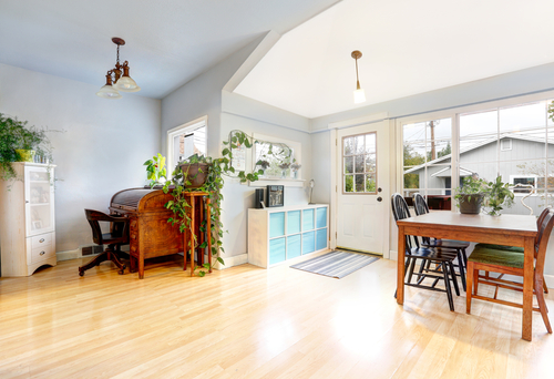 light hardwood flooring