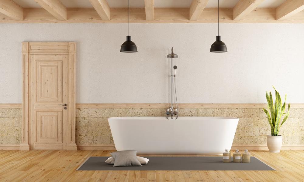 hardwood floor bathroom Bozeman