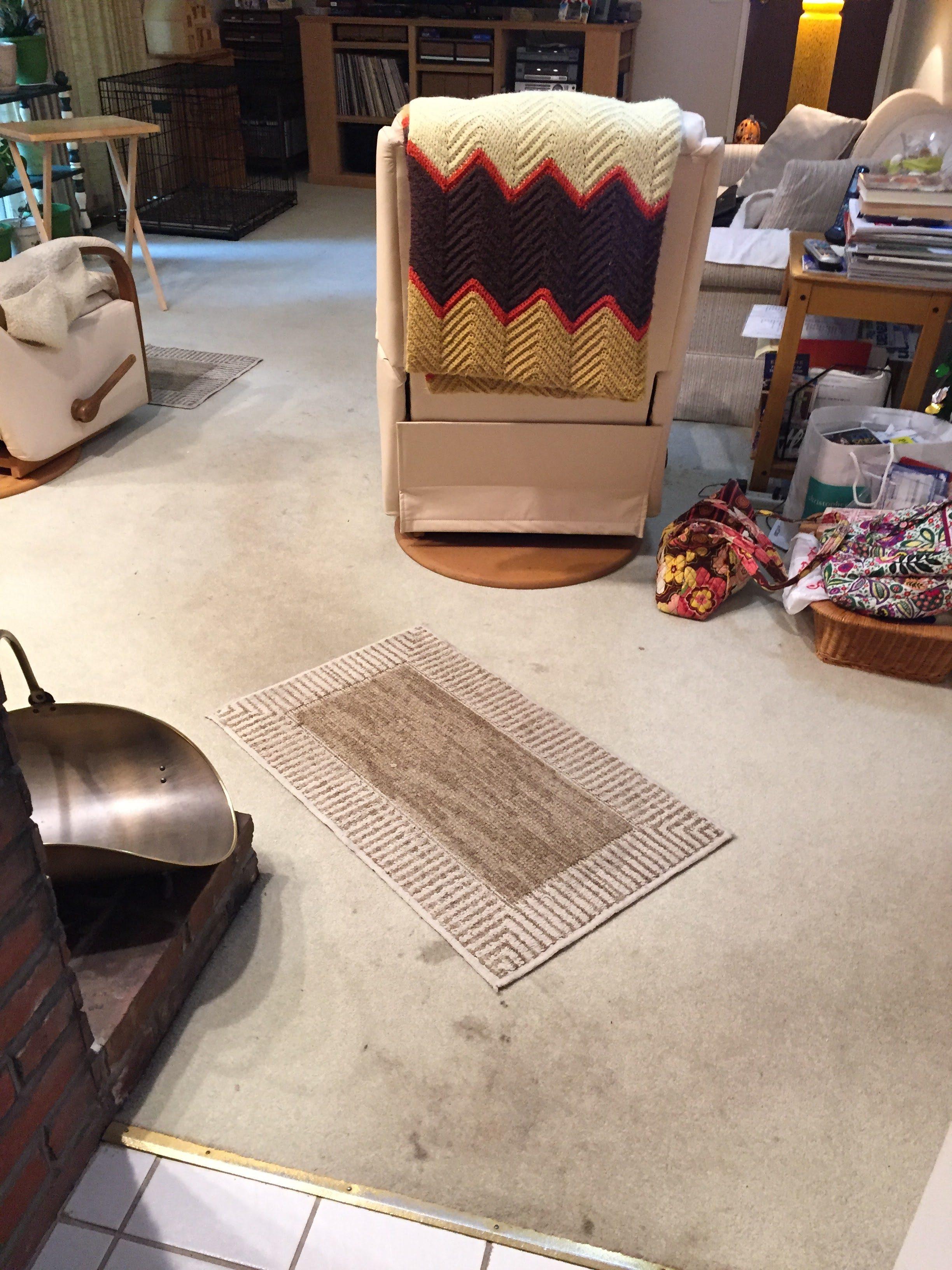 Carpet before installation