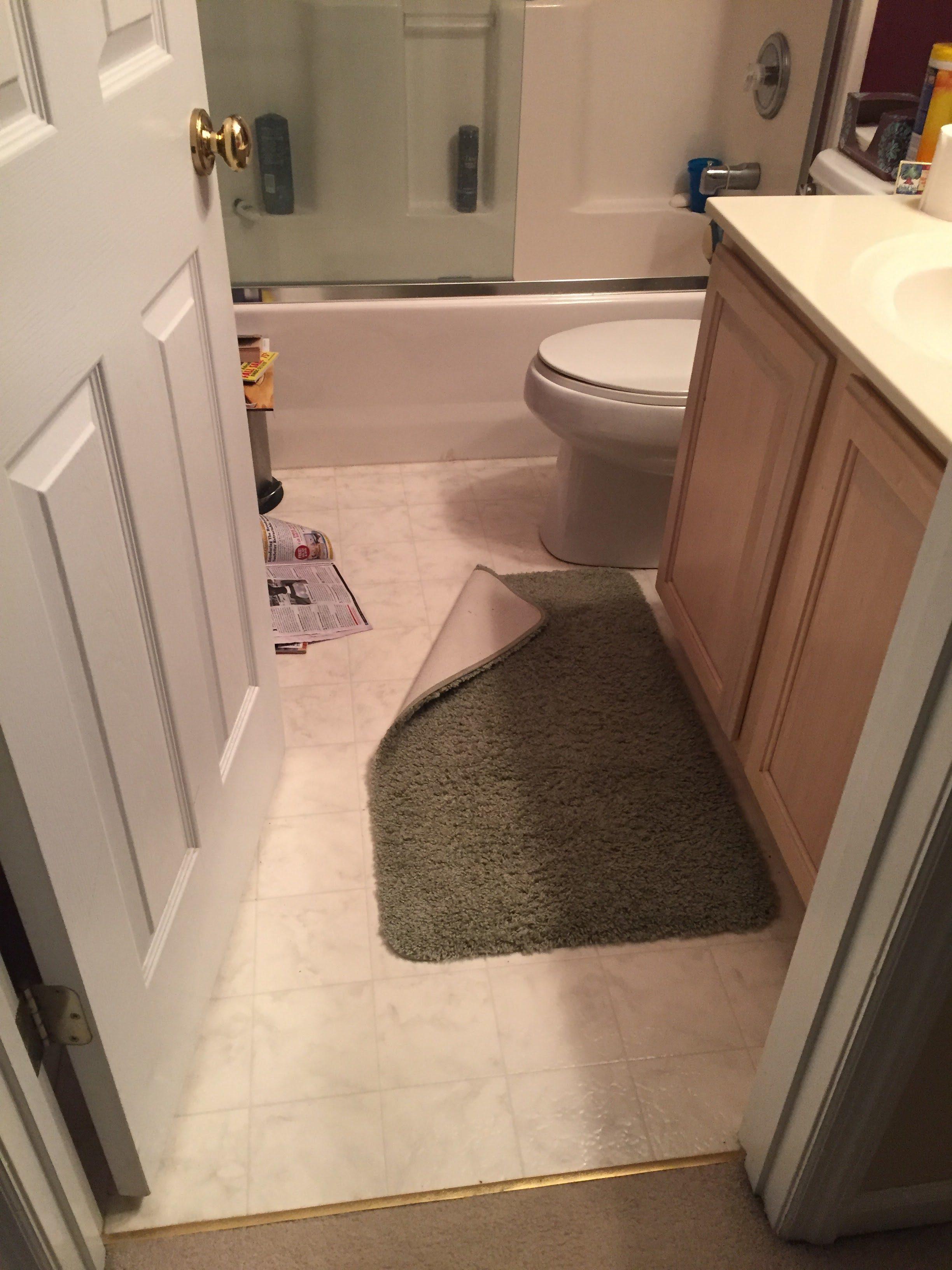 Flooring before installation