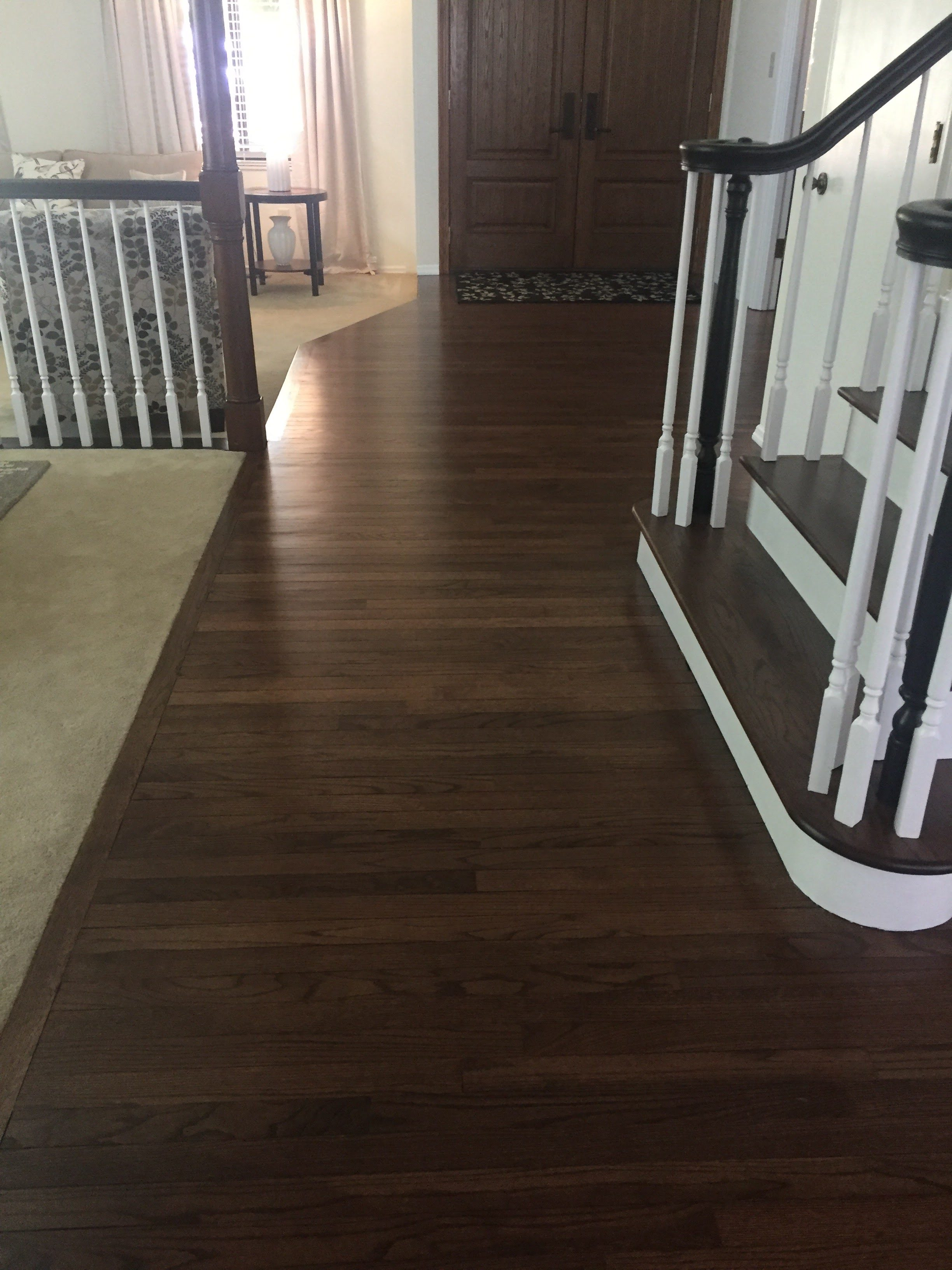 Refinished hardwood floors in West County