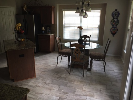 kitchen floor tile, stone oak texas