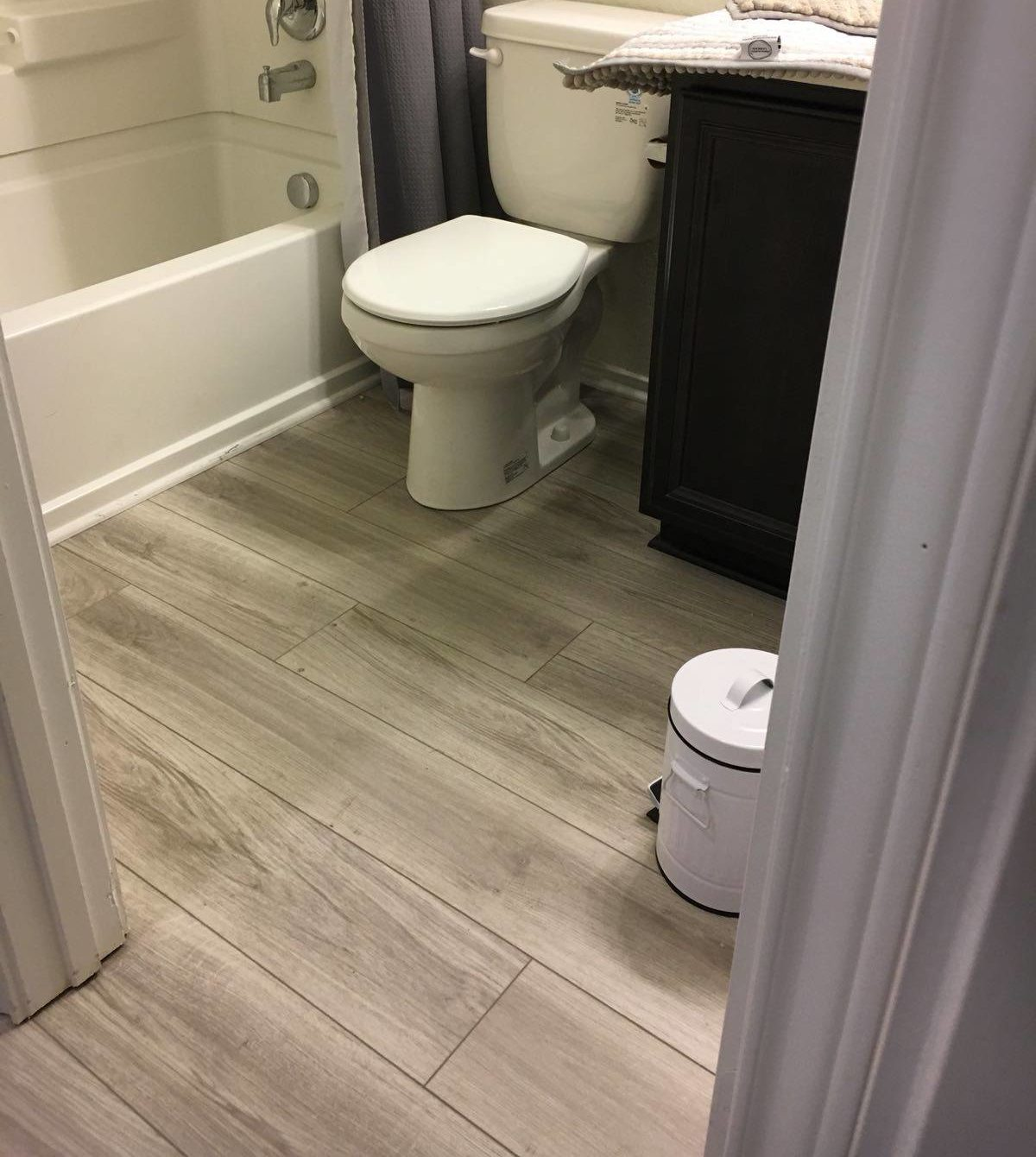 engineered vinyl plank bathroom