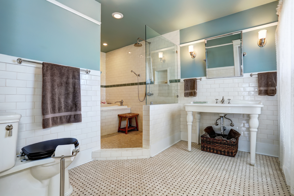 Mosaic bathroom tile in Downers Grove