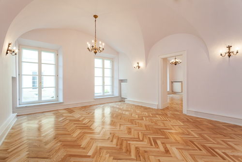 Parquet wood flooring in Downers Grove
