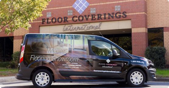 flooring sample van