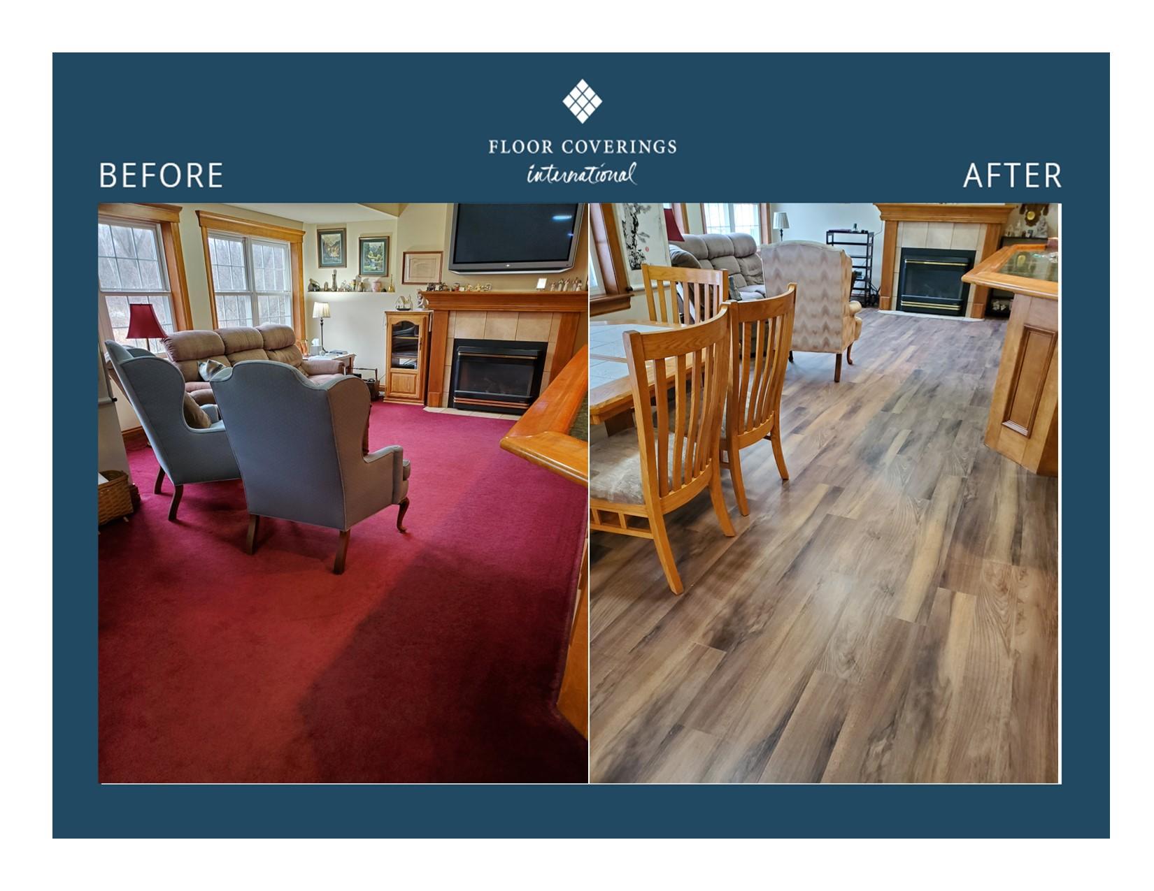 transformation of flooring