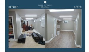 before and after hall flooring