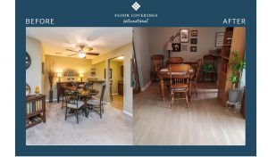 bradica before and after flooring in the dining room area