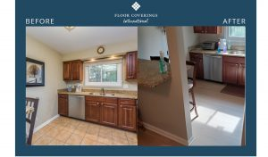 bradica before and after flooring in the kitchen