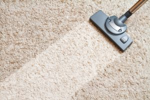 Cleaning a carpet in a Waukesha home