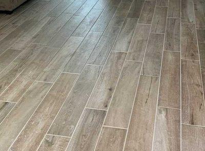 Grayish-Brown Living Area Flooring