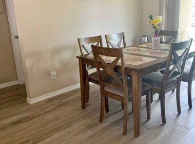 Light-Brown Kitchen Area Floor