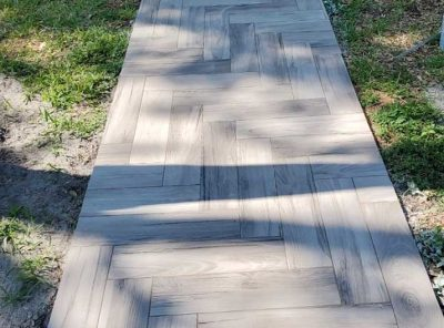 Tiled Front Walkway
