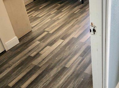 Dark And Light Patterned Vinyl Bedroom Floor Panels