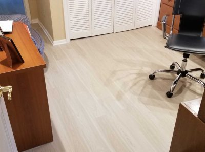 Vinyl Floor Spanning A Personal Home Office