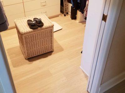 Home Closet With Vinyl Flooring