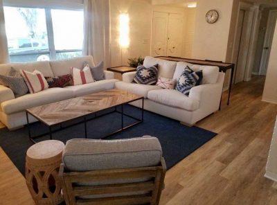 Furnished Living Room Atop Vinyl Flooring