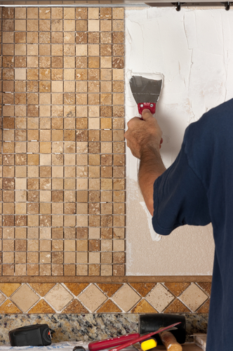 travertine tile backsplash new canaan