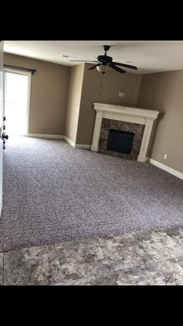 Carpet and Ceramic tile